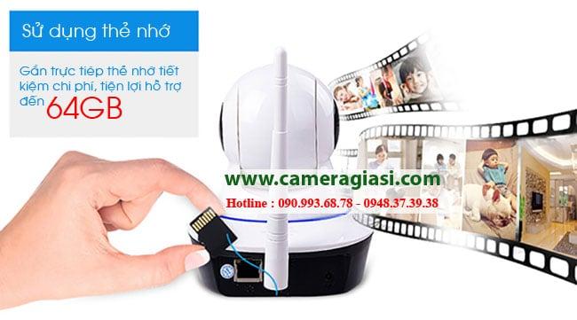 Camera ip không dây sử dụng thẻ nhớ tiện dụng