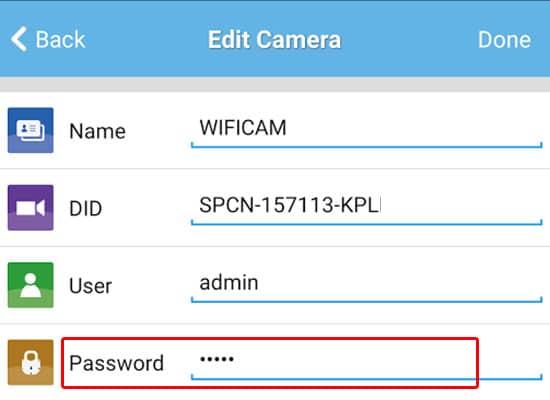 khac phuc loi khi thay doi mat khau camera wifi 2