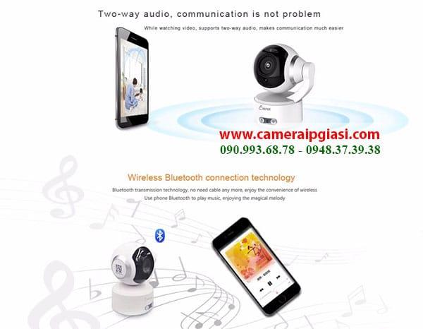 Camera IP Wifi keeper K5 nghe nhac giai tri