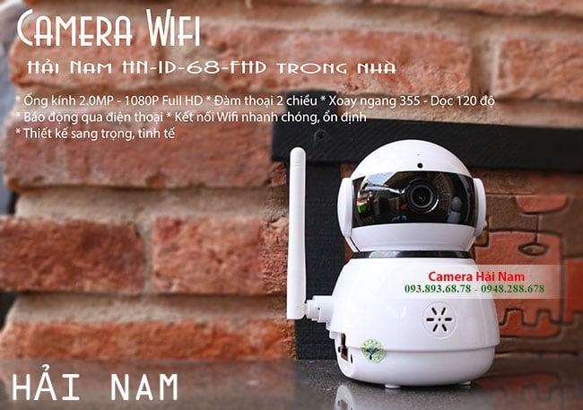 Camera IP Wifi Hải Nam HN-ID-68-FHD siêu nét 1080P siêu kết nối Wifi => Dòng CAO CẤP & BÁN CHẠY NHẤTchỉ còn 995.000Đ