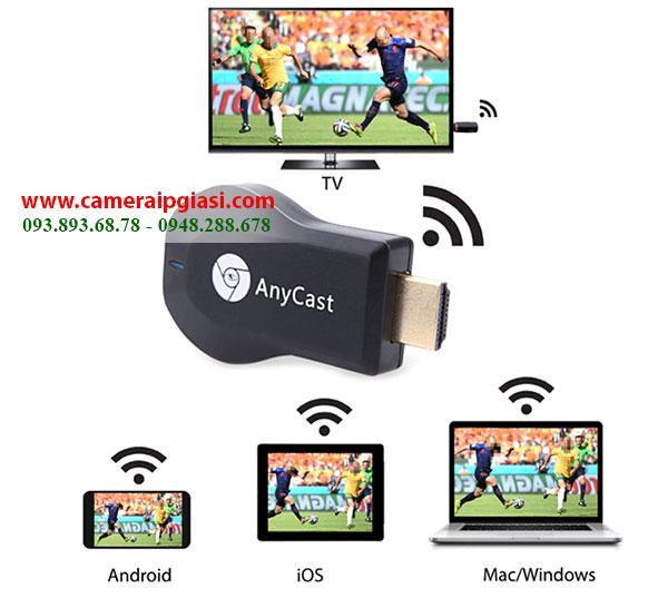 Thiết bị HDMI không dây AnyCast M2 Plus nhờ wifi kết nối tivi 1