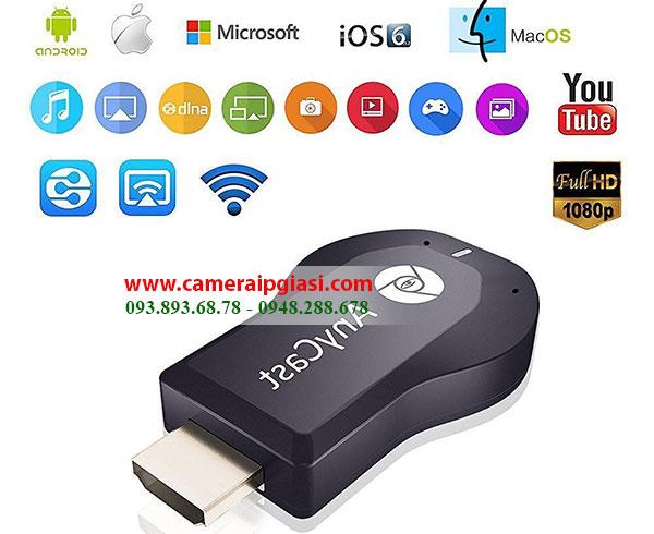 HDMI không dây Anycast M2 Plus kết nối đa phương tiện với Tivi giá