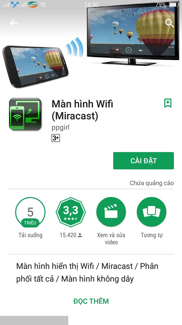 Ứng dụng wifi display trong kết nối HDMI không dây
