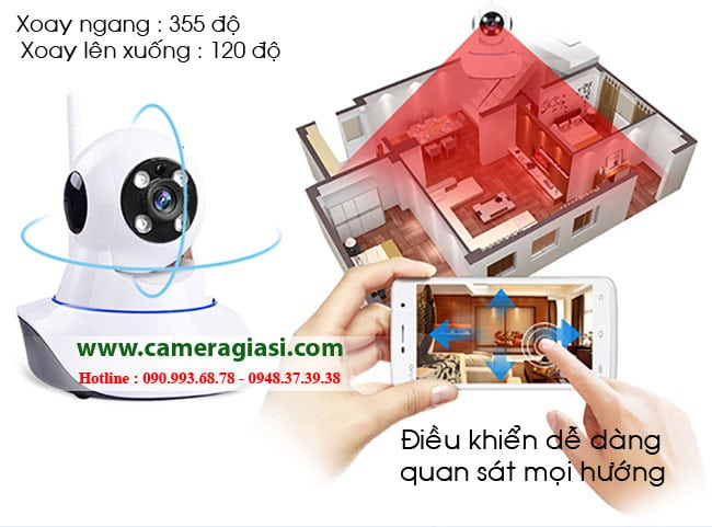 Camera IP Wifi giá RẺ NHẤT tại TPHCM - Phân phối Camera IP Wifi Trong nhà và Ngoài trời Chất lượng cao, Trọn bộ chỉ 495K
