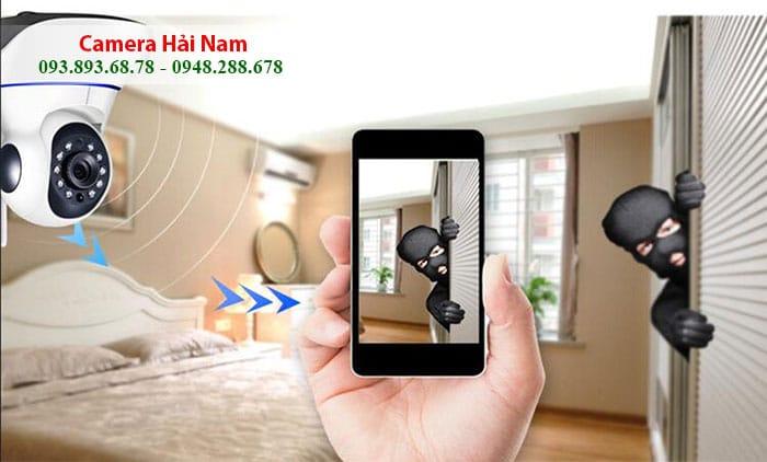 + Cảnh báo: Cảm biến trên camera wifi có khả năng nhận diện chuyển động độc đáo. Người dùng chỉ cần mở tính năng này lên là ngôi nhà sẽ được bảo vệ toàn diện. Nếu có trộm đột nhập, lập tức camera chống trộm sẽ hú ngay tức thì và gửi thông báo qua điện thoại nhanh chóng cho bạn.