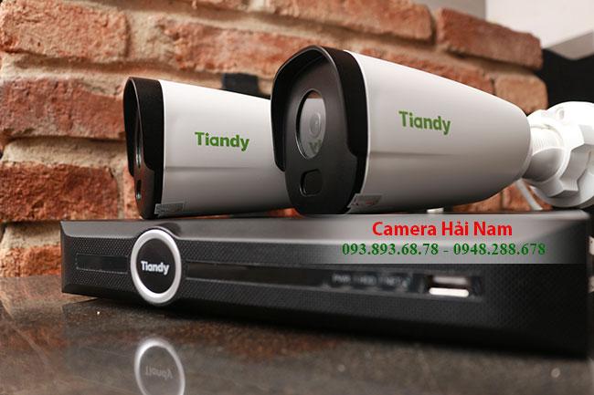 Camera quan sát Tiandy, Lắp đặt trọn bộ Camera IP Tiandy Full HD- Đầu ghi PoE chuẩn nén H.265 Giá rẻ