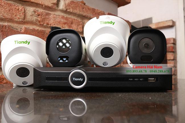 Lắp đặt trọn bộ 04 Camera giám sát Tiandy 2.0 Full HD, Đầu ghi PoE chuẩn H265 giá rẻ tại Hải Nam