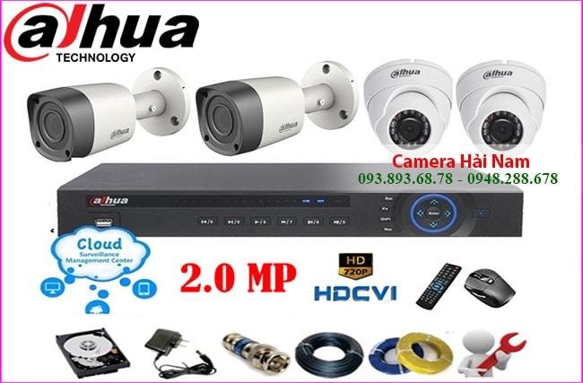 trọn bộ 4 mắt camera dahua full hd 1080p
