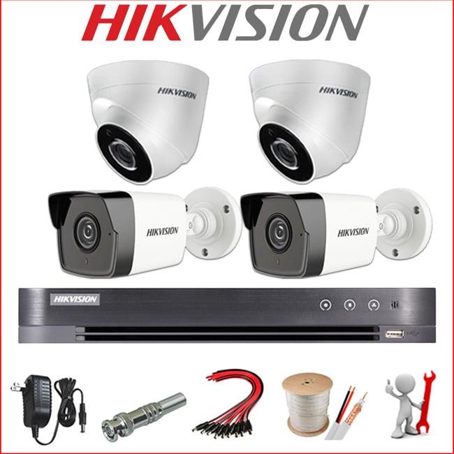 lắp đặt trọn bộ camera hikvision siêu nét super hd 5mp