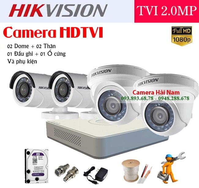 Lắp đặt Camera Hikvision HDTVI Trọn gói Full HD 1080P/ Super HD 2K Giá rẻ nhất