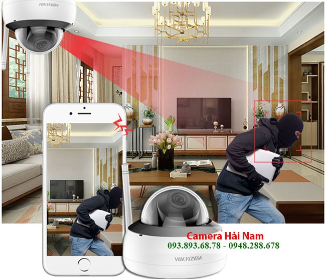 Camera HIKVISION DS 2CD2121G1 IDW1 Dome IP Wifi 2MP chuẩn H.265 IR 30m 4
