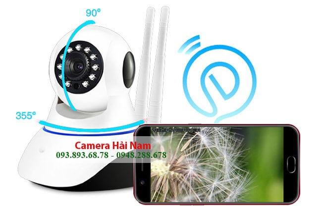 Camera an ninh 360 độ có góc quay rộng, quan sát toàn cảnh