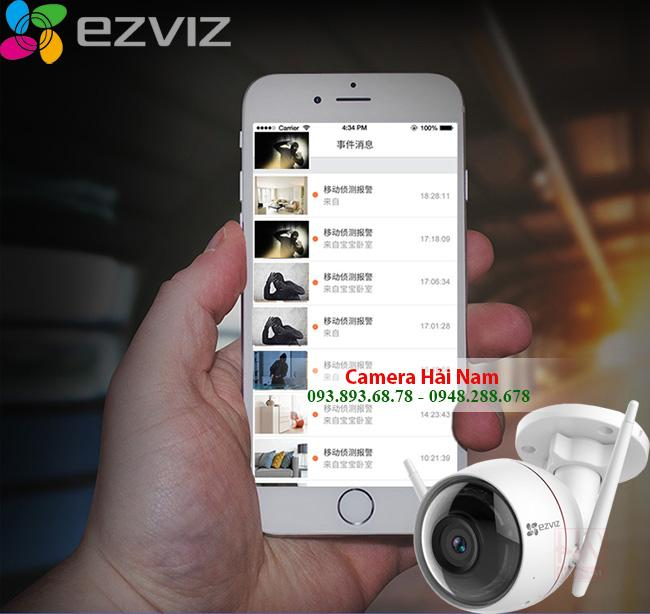 Camera IP Wifi Ngoài trời EZViz 2M Full HD 1080P chống nước, đàm thoại, báo trộm thông