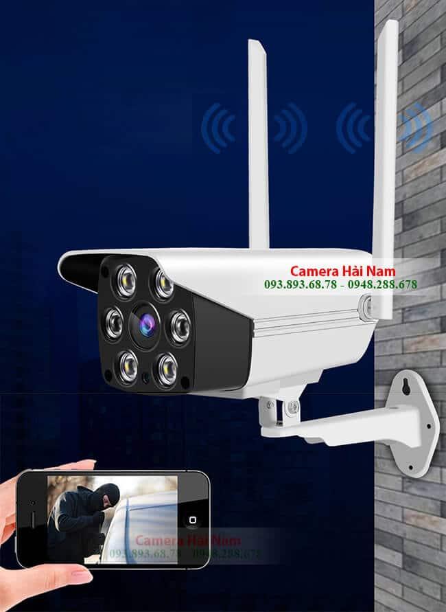 Camera IP Wifi ngoài trời cao cấp 2.0M Full HD 1080P có hình màu ban đêm, báo trộm, đam thoại...