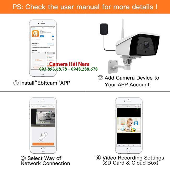 cách cài đặt camera wifi ebitcam