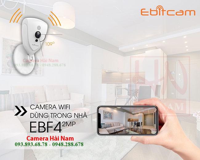 Camera Wifi Ebitcam Cube 2.0MP EBF4 Full HD 1080P, Góc rộng có Đàm thoại, Báo trộm giá rẻ