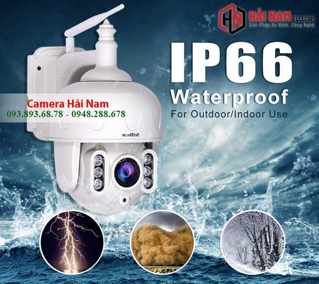Camera WIfi Ngoai Troi 3MP Xoay 360 Zoom Quang 5X chong nuoc tot ip66