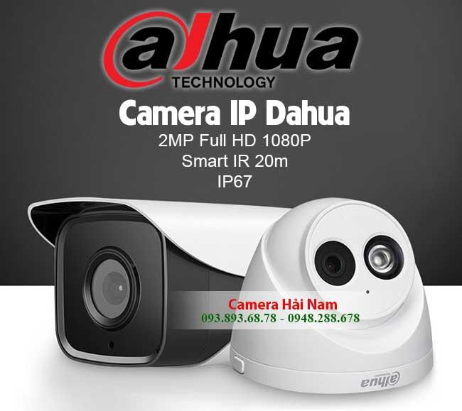 Lắp đặt Camera IP Dahua chính hãng 2.0M Full HD 1080P Giá rẻ - Trọn Bộ Dahua IP Camera quan sát tại Hải Nam