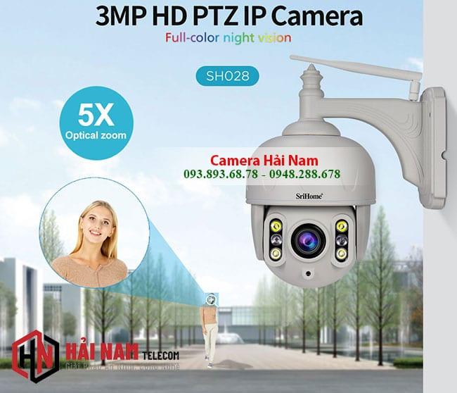 Camera Ngoài trời 3MP Sắc Nét Xoay 360, Zoom 5X, Chống nước