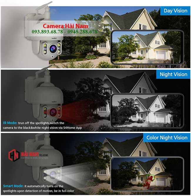 Camera IP WIfi Ngoai Troi 3MP Xoay 360 Zoom Quang 5X XEM ghi hinh ban dem