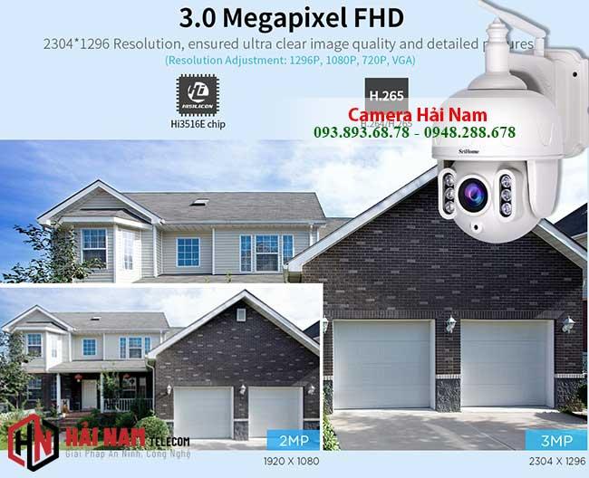 Camera IP WIfi Ngoai Troi 3MP Xoay 360 Zoom Quang 5X ghi hinh sieu net