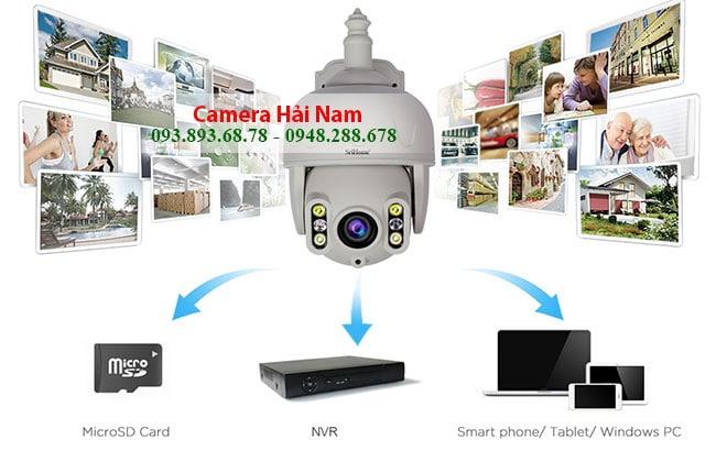 Camera IP WIfi Ngoai Troi 3MP Xoay 360 Zoom Quang 5X luu the nho sd