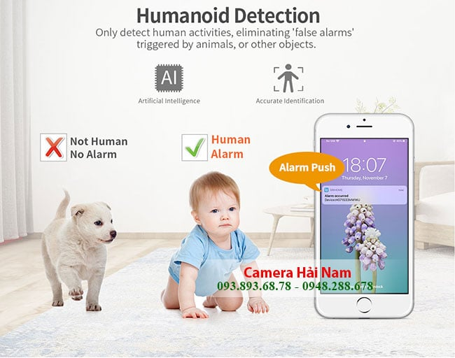 Camera IP Wifi SriHome 3MP SH020 phat hien con nguoi sieu chuan