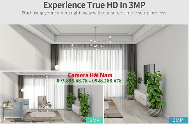 Camera Wifi giá rẻ 3MP Sắc nét_Xoay 360_Báo trộm [FREESHIP]