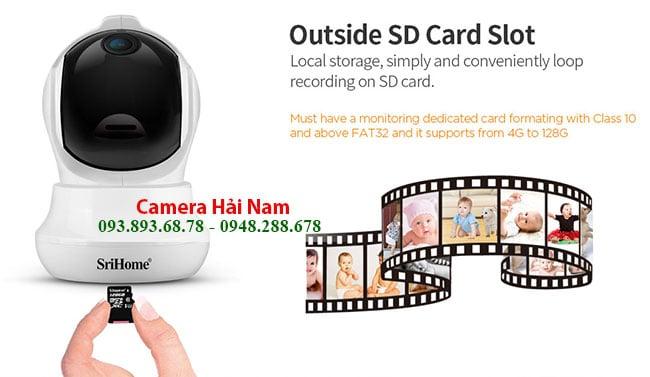 Camera SriHome 3MP co khe cam the nho toi da 128GB
