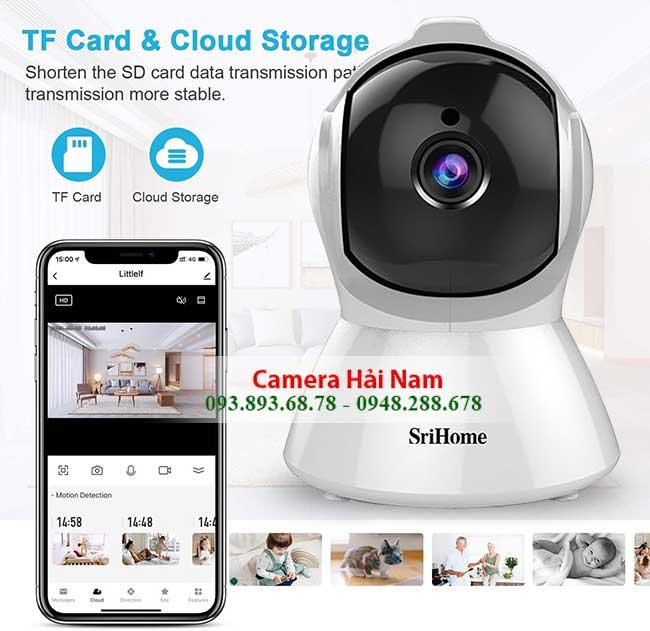 Camera SriHome SH025 luu tru qua the nho micro sd