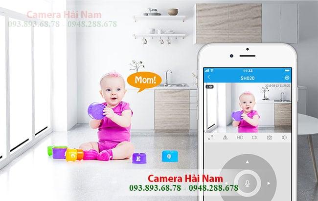 Camera wifi SriHome 3MP SH020 dam thoai 2 chieu
