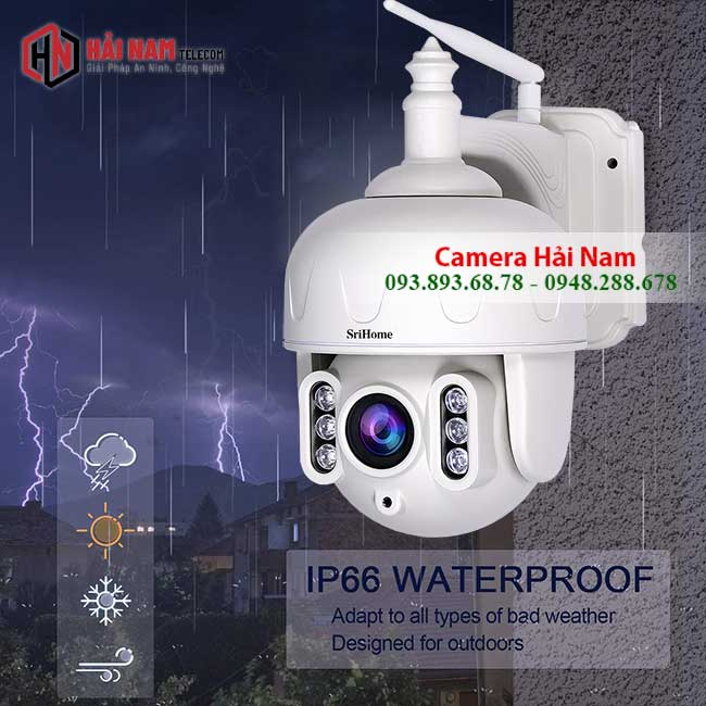 Camera WIfi Ngoai Troi 3MP Xoay 360 Zoom Quang 5X chong nuoc ip66i