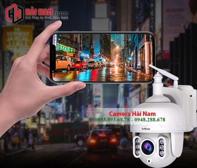 Camera IP WIfi Ngoai Troi 3MP Xoay 360 Zoom Quang 5X Sac Net quan sat tren dien thoai