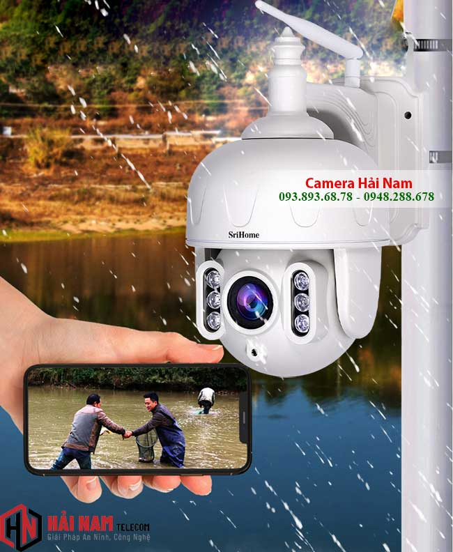Camera IP WIfi Ngoai Troi 3MP Xoay 360 Zoom Quang 5X Sac Net