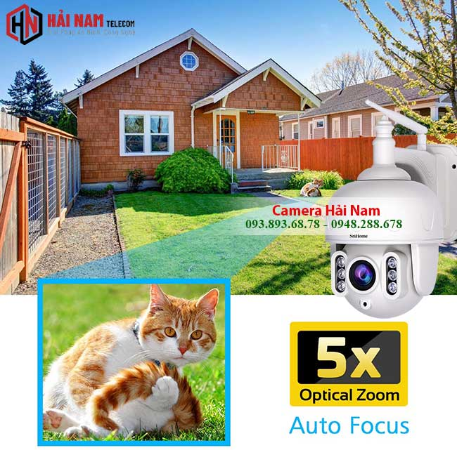 Camera WIfi Ngoai Troi 3MP Xoay 360 Zoom Quang 5X