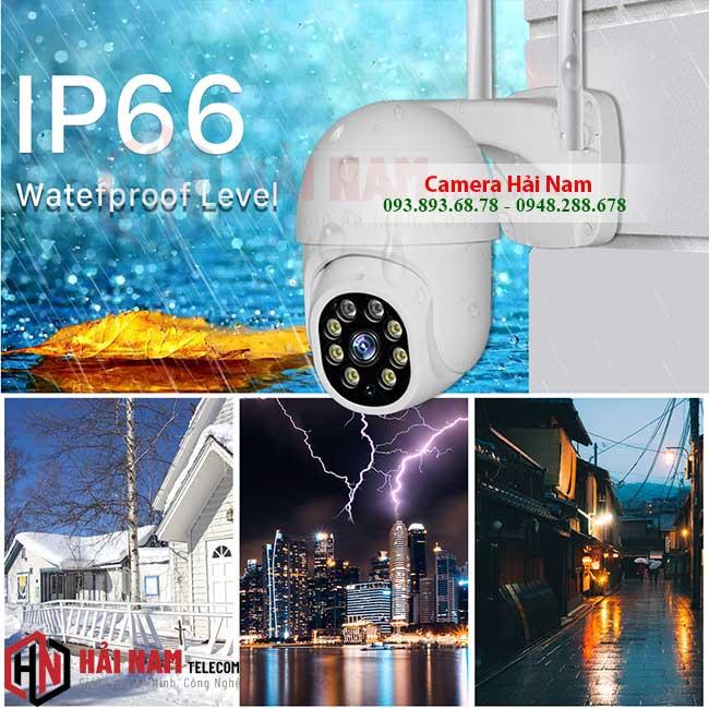 camera wifi ngoai troi xoay 360 2mp chong nuoc ip66