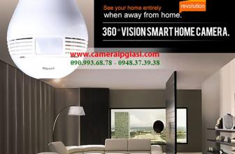 Camera ngụy trang bóng đèn không dây wifi quan sát từ xa giá rẻ