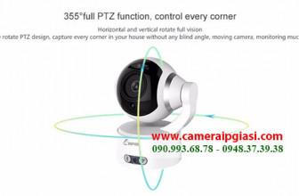 Camera ip không dây kết nối với điện thoại + Bluetooth nghe nhạc