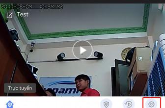 Đảo ngược hình ảnh camera ip wifi YooSee khi gắn lên trần nhà